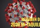Resumen del año 2020 en la taquilla española